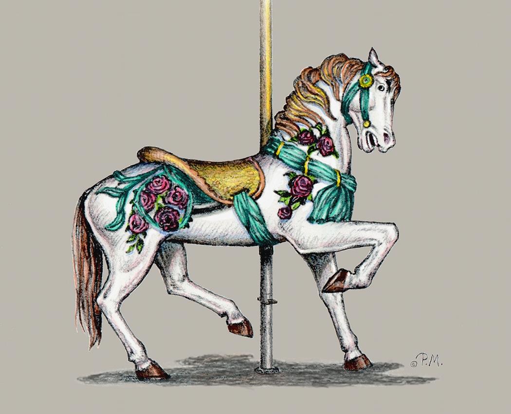 Carousel Horses Art | www.pixshark.com - Images Galleries ...