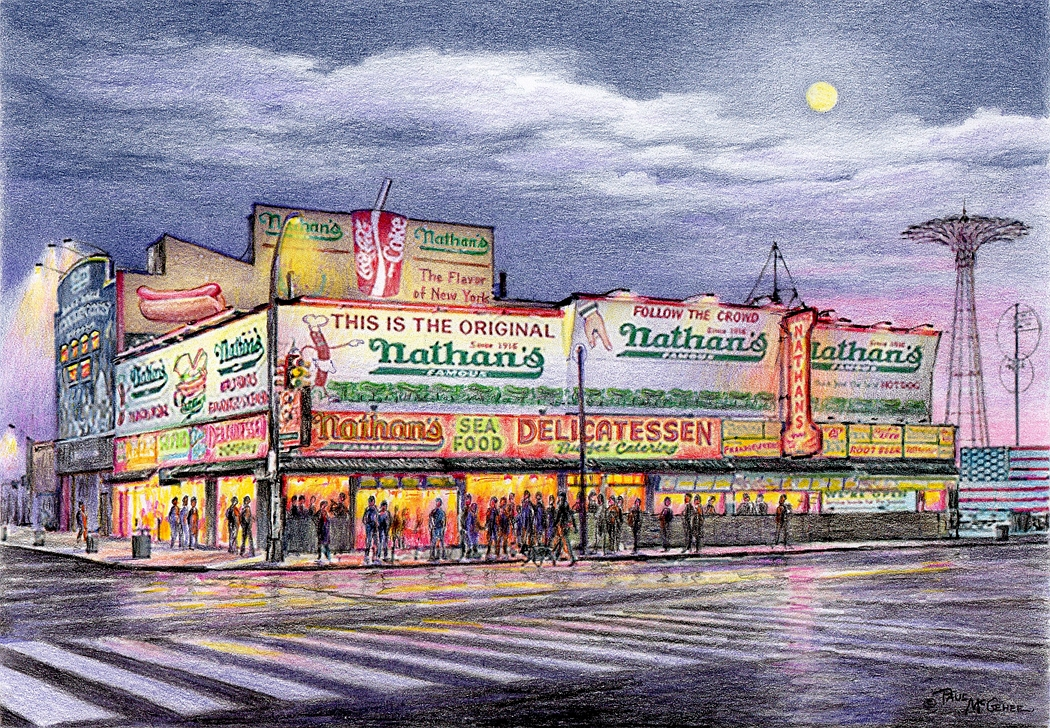 Nathan's Famous - Coney Island, New York